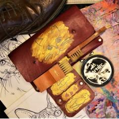 Набор для обуви гляссажный в кожаном клатче nbk-6 цвет ручная роспись