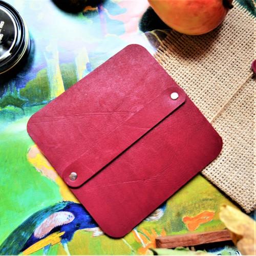 Салфетка профессиональная полировочная большая кожа, фетр цвет бургундия slf-10