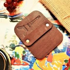 Салфетка профессиональная полировочная малая кожа, фетр цвет горький шоколад slf-2