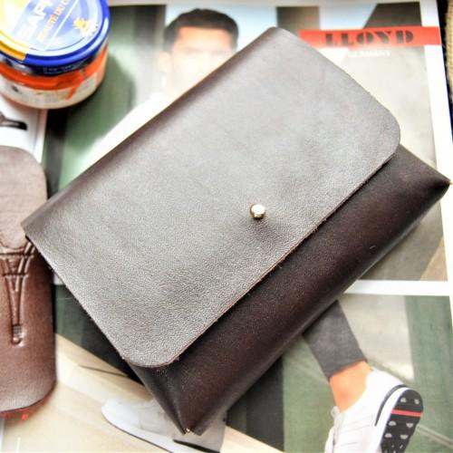 Кожаный футляр под обувную косметику ft-7 цвет горький шоколад