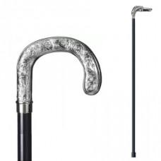 Трость КРЮК, никель + пластик, 94см. Saphir (Франция) арт.15604