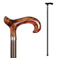 Трость Пластиковая ручка, цвет: коричневый, 94см. Saphir (Франция) арт.16381