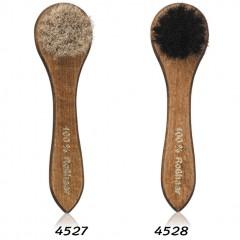 Щетка для обуви из гладкой кожи, для баночных кремов с натуральным конским волосом черного или серебристо-серого цвета Solitaire (Солитер) арт.4527, 4528
