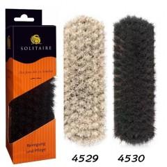 Щетка для обуви из гладкой кожи, большая щётка для полирования обуви с натуральным конским волосом Solitaire (Солитер) арт.4529, 4530
