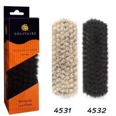 Щетка для обуви из гладкой кожи, средняя щётка для полирования обуви с натуральным конским волосом Solitaire (Солитер) арт.4531, 4532